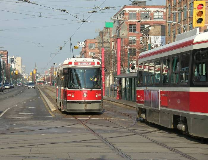 Streetcars on Spadina