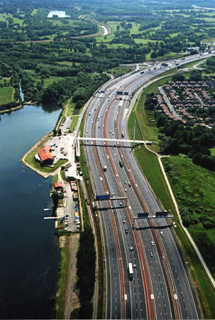 M60 motorway widening project