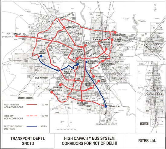 High Capacity Bus System Corridors for Delhi