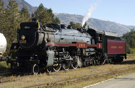CPR Empress on display at Railway Days in Kamloops