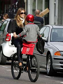 Elle bike and child