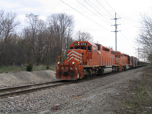 EJ&E rail train at Gilmer Road in Hawthorn Woods