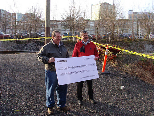 Bombardier's cheque for $22,550 to TRAMS