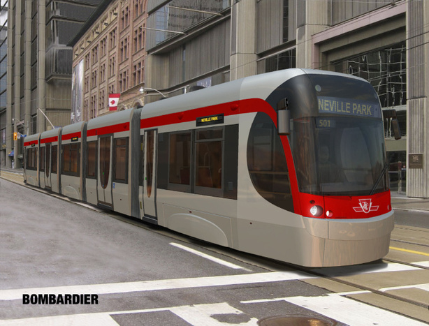 Bombardier Flexity car for the TTC