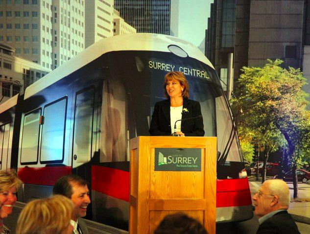 Mayor Watts and a streetcar