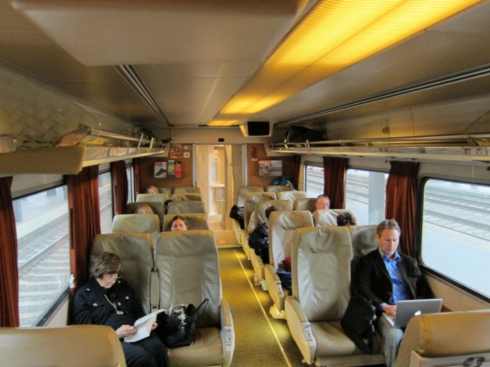 Amtrak Cascades coach interior