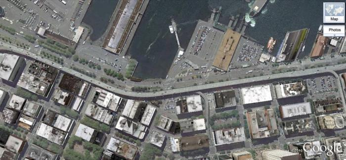 Seattle Viaduct Google Satellite View http://goo.gl/maps/qADL