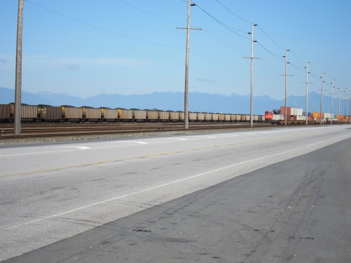 BNSF Coal Train at Roberts Bank yesterday