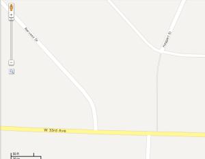 Google maps shows a short cut