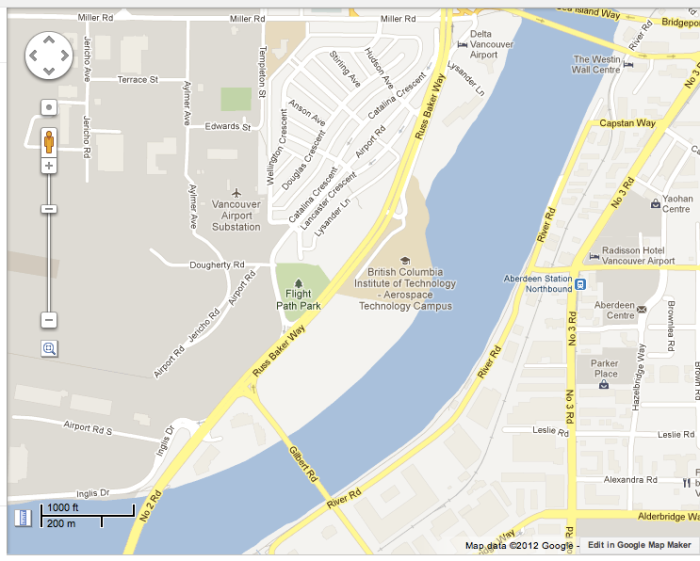 Google map of the SE corner of Sea Island