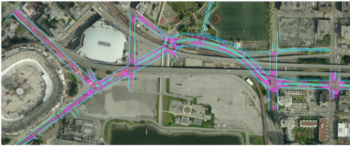 new road network proposed to replace the viaducts