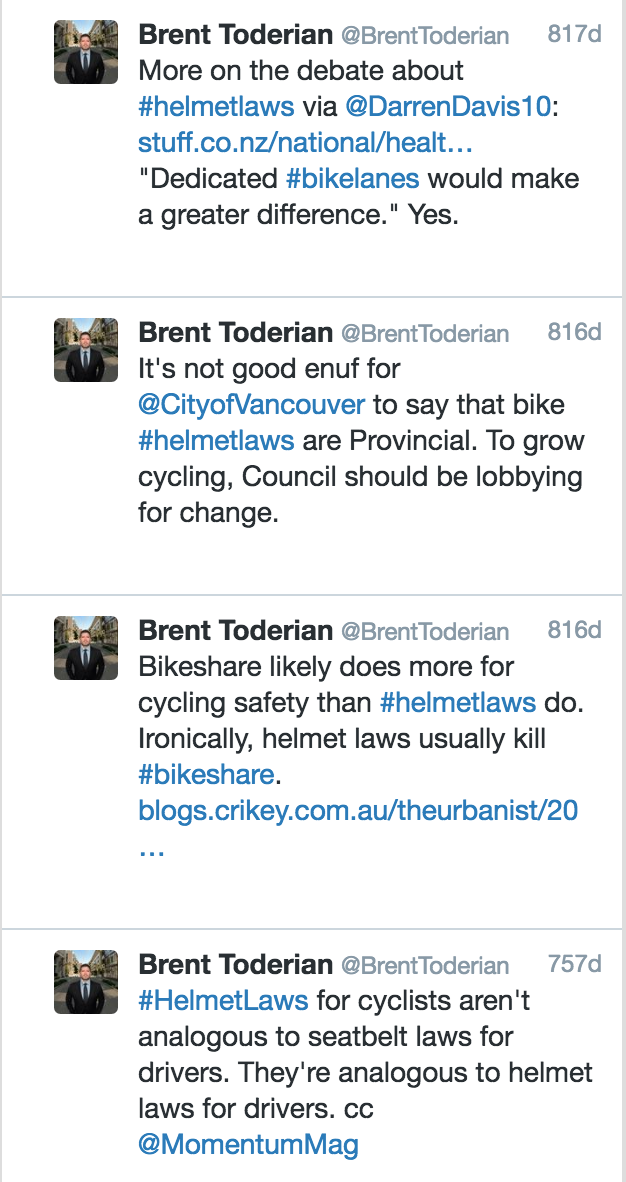 Guest Post by Brent Toderian on Bike Helmet Law | Stephen