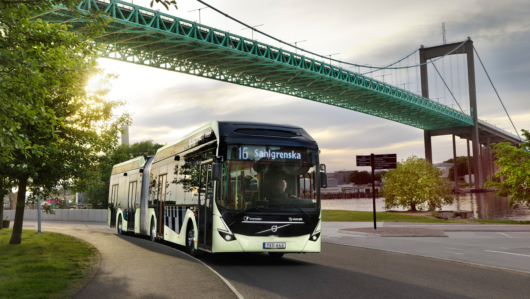 Volvo supplied image of a new articulated bus